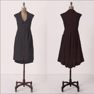 NEW Anthro Postmark High Low Pleated Shirt Dress